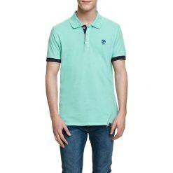 Koszulka polo w kolorze jasnozielonym. Zielone koszulki polo marki Camel Active, Varsity, l. W wyprzedaży za 72,95 zł.