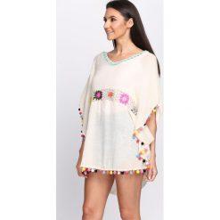 Bluzki damskie: Beżowa Bluzka Kimono Girl