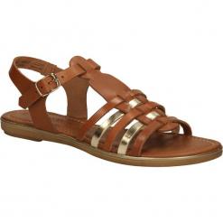 SANDAŁY MARCO TOZZI 2-28160-24. Brązowe sandały damskie marki Marco Tozzi. Za 109,99 zł.