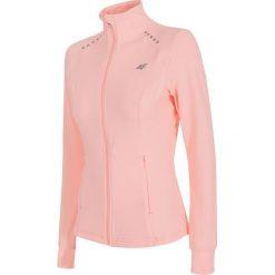 Bluzy rozpinane damskie: Bluza treningowa damska BLDF201 - jasny róż melanż