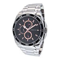 """Zegarki męskie: Zegarek """"CAP-1103212.C"""" w kolorze srebrno-czarnym"""