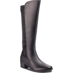 Kozaki CAPRICE - 9-25604-21 Black Comb 019. Czarne buty zimowe damskie Caprice, z materiału. Za 479,90 zł.
