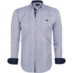 """Koszule męskie na spinki: Koszula """"Lanark"""" w kolorze niebiesko-białym"""