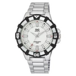 Zegarek Q&Q Unisex Q840-201 biały. Białe zegarki męskie Q&Q. Za 101,41 zł.