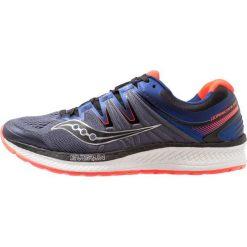 Saucony HURRICANE ISO 4 Obuwie do biegania Stabilność grey/blue/vizired. Szare buty do biegania męskie Saucony, z materiału. Za 719,00 zł.