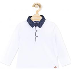 Koszulka. Białe t-shirty chłopięce z długim rękawem ELEGANT BABY BOY, z bawełny. Za 34,90 zł.