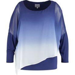 Topy damskie: Live Unlimited London OMBRE CHIFFON OVERLAY TOP  Bluzka dark blue