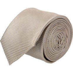 Krawat platinum beż classic 202. Brązowe krawaty męskie Recman, z tkaniny, eleganckie. Za 49,00 zł.