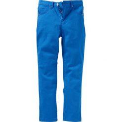 Rurki dziewczęce: Spodnie twillowe Slim Fit bonprix lazurowy niebieski