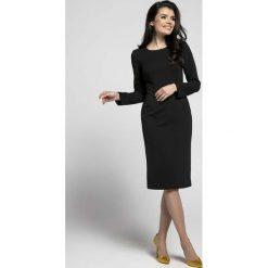Sukienki: Czarna Klasyczna Dopasowana Sukienka za Kolano