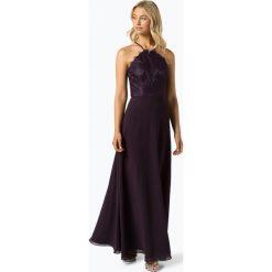 Swing - Damska sukienka wieczorowa, czerwony. Czerwone sukienki balowe Swing, w koronkowe wzory, z koronki, z dekoltem na plecach. Za 599,95 zł.