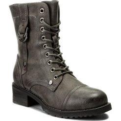Botki JENNY FAIRY - WS16357-7 Szary. Szare buty zimowe damskie marki Jenny Fairy, ze skóry ekologicznej, na obcasie. Za 129,99 zł.