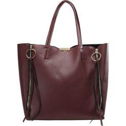 Topshop O RING SIDE ZIP Torba na zakupy burgundy. Czerwone torebki klasyczne damskie Topshop. Za 149,00 zł.