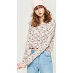 Sweter cropped - Różowy. Czerwone swetry klasyczne damskie Sinsay, l. Za 59,99 zł.