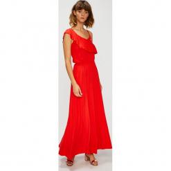 U.S. Polo - Sukienka. Niebieskie długie sukienki marki bonprix, z nadrukiem, na ramiączkach. W wyprzedaży za 499,90 zł.