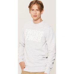 Bluza z napisem - Jasny szar. Szare bluzy męskie rozpinane marki House, l, z napisami. Za 59,99 zł.