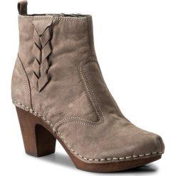 Botki MANITU - 961578 Beige 8. Brązowe buty zimowe damskie marki NEWFEEL, z gumy. W wyprzedaży za 279,00 zł.