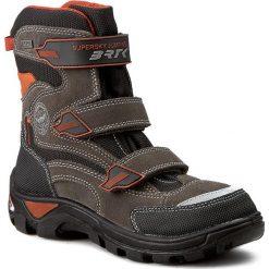 Buty zimowe chłopięce: Śniegowce BARTEK – 97672-04M Szary Pomarańcz