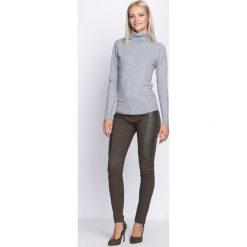Spodnie damskie: Ciemnozielone Spodnie Beautiful Mind