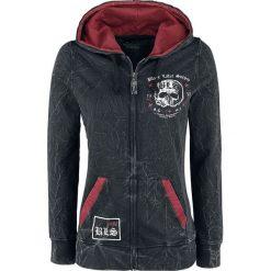 Bluzy rozpinane damskie: Black Label Society EMP Signature Collection Bluza z kapturem rozpinana damska czarny