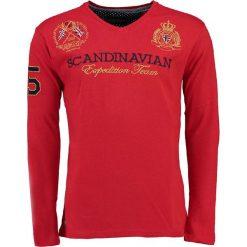 """T-shirty męskie z nadrukiem: Koszulka """"Jevin"""" w kolorze czerwonym"""