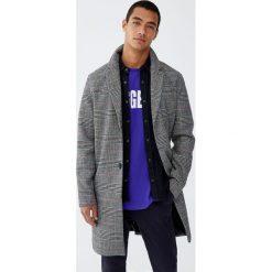 Płaszcz z flauszu w kratkę. Brązowe płaszcze na zamek męskie marki Cropp, na zimę, l, sportowe. Za 349,00 zł.