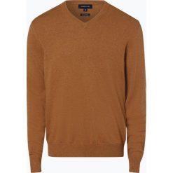 Andrew James - Sweter męski z dodatkiem kaszmiru, beżowy. Brązowe swetry klasyczne męskie Andrew James, m, z kaszmiru, z dekoltem w serek. Za 229,95 zł.