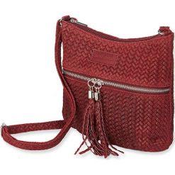 """Torebki klasyczne damskie: Skórzana torebka """"Chiara"""" w kolorze bordowym – 21 x 28 x 7 cm"""