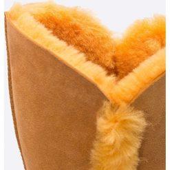 Emu Australia - Kozaki. Pomarańczowe botki damskie na obcasie EMU Australia, z materiału, z okrągłym noskiem. W wyprzedaży za 349,90 zł.