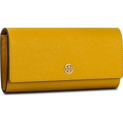 Portfele damskie: Duży Portfel Damski TORY BURCH – Robinson Envelope Continental Wallet 46630 Daisy/Classic Tan 765
