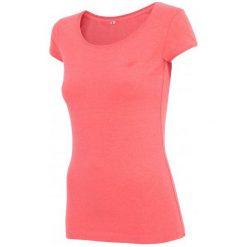 Bluzki sportowe damskie: 4F Damska Koszulka H4Z17 tsd001 Koralowy Melanż Xs
