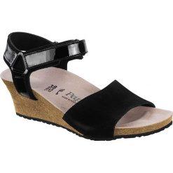 """Sandały damskie: Skórzane sandały """"Eve"""" w kolorze czarnym - wąskie"""