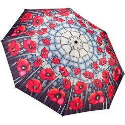 """Parasole: Parasol """"Stained Glass Poppies"""" w kolorze szaro-czerwonym"""