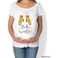 Bluzki damskie: koszulka damska, ciążowa - hello winter