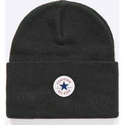 Converse - Czapka. Czarne czapki zimowe męskie Converse, na zimę, z dzianiny. Za 89,90 zł.