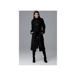 Płaszcz M624 Czarny. Czarne płaszcze damskie pastelowe FIGL, m, w paski, eleganckie. Za 329,00 zł.