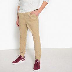 Spodnie dresowe. Brązowe spodnie chłopięce La Redoute Collections, z bawełny. Za 96,98 zł.
