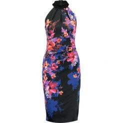 Sukienki hiszpanki: Karen Millen MIDNIGHT FLORAL  Sukienka koktajlowa purple