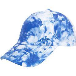 Czapka damska CAD251 - allover granatowy - 4F. Niebieskie czapki z daszkiem damskie 4f, na lato, z nadrukiem, z materiału. Za 34,99 zł.