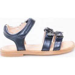 Geox - Sandały. Szare sandały dziewczęce Geox, z materiału. Za 239,90 zł.