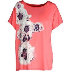 Różowy T-shirt Cinnamon. Czerwone bluzki damskie marki Born2be, xxl. Za 39,99 zł.