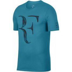 Nike Męski T-Shirt Rf M Nk Tee Neo Turq Black L. Czarne t-shirty męskie Nike, m. Za 155,00 zł.