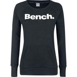Bluzy damskie: Bench Heritage Long Logo Crew Neck Bluza damska czarny/biały