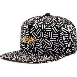 Czapka męska snapback czarna (hx0183). Czarne czapki z daszkiem męskie Dstreet, z aplikacjami, eleganckie. Za 69,99 zł.