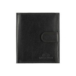 Portfele damskie: Skórzany portfel w kolorze czarnym – (D)11,5 x (S)9,5 cm