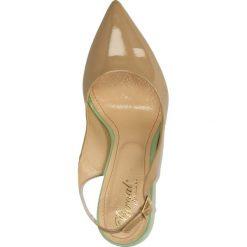 CZÓŁENKA PURGAL P-101. Brązowe buty ślubne damskie Casu, na koturnie. Za 229,99 zł.
