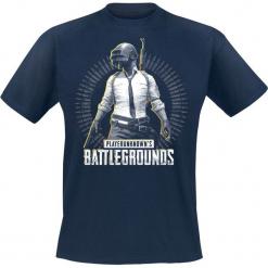 Playerunknown's Battlegrounds PUBG - Level 3 T-Shirt odcienie granatowego. Niebieskie t-shirty męskie z nadrukiem l, z okrągłym kołnierzem. Za 74,90 zł.