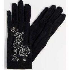 Rękawiczki z wełną - Czarny. Czarne rękawiczki damskie Mohito, z wełny. Za 49,99 zł.