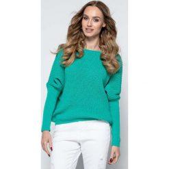 Zielony Sweter z Dekoltem V na Plecach. Szare swetry klasyczne damskie marki Sinsay, l, z dekoltem na plecach. Za 118,90 zł.
