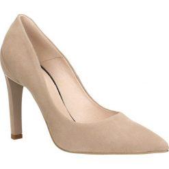Czółenka ANET. Białe buty ślubne damskie marki Kazar, ze skóry, na wysokim obcasie, na szpilce. Za 249,90 zł.